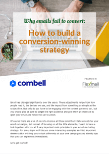How to build a conversion-winning e-mail strategy