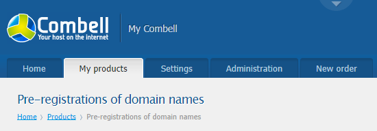 My Combell pre-registration