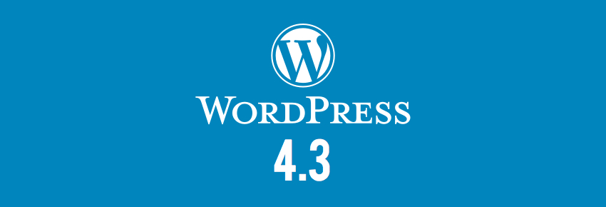WordPress 4.3 new version