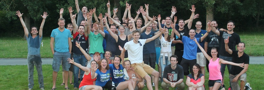 Combell team building group picture