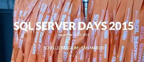 SQL Server Days 2015