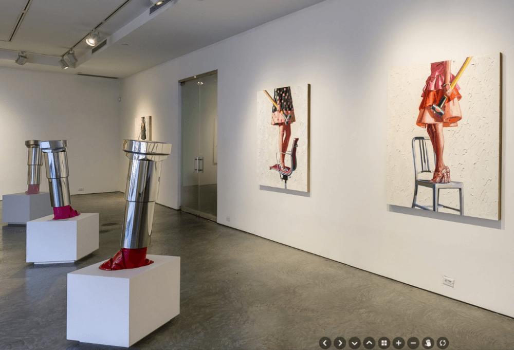 Poppr virtual tour in De Buck Gallery New York