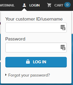New ordering experience Combell - log-in