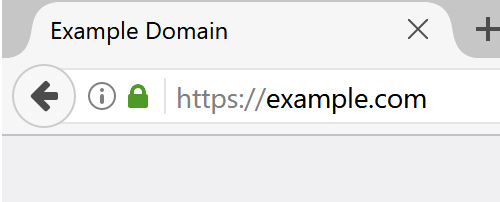 Firefox shows green lock icon on HTTPS protected pages