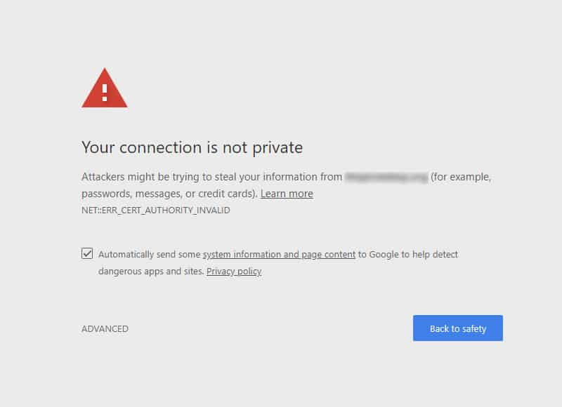 Http website marked unsafe in Chrome