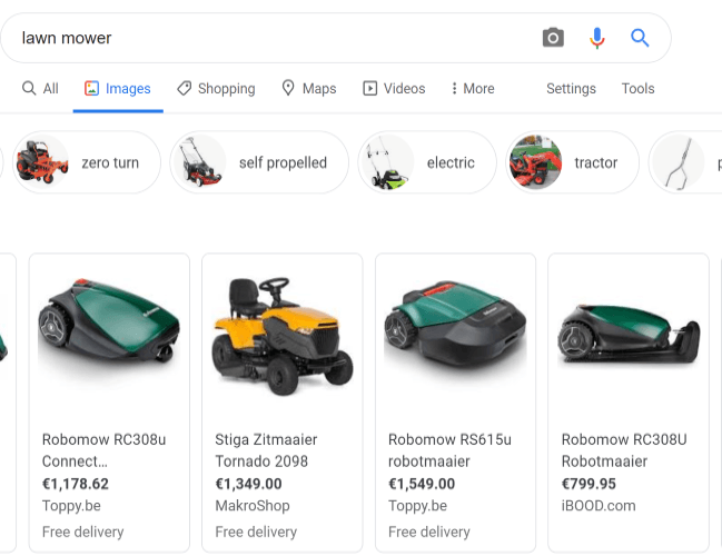 Images Google SEO results