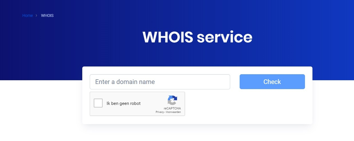 Whois service Combell