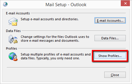 "Mail window >> ""Show Profiles"""