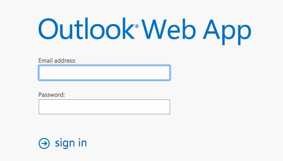 Sign in Outlook Web App