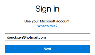 Log in Hotmail account