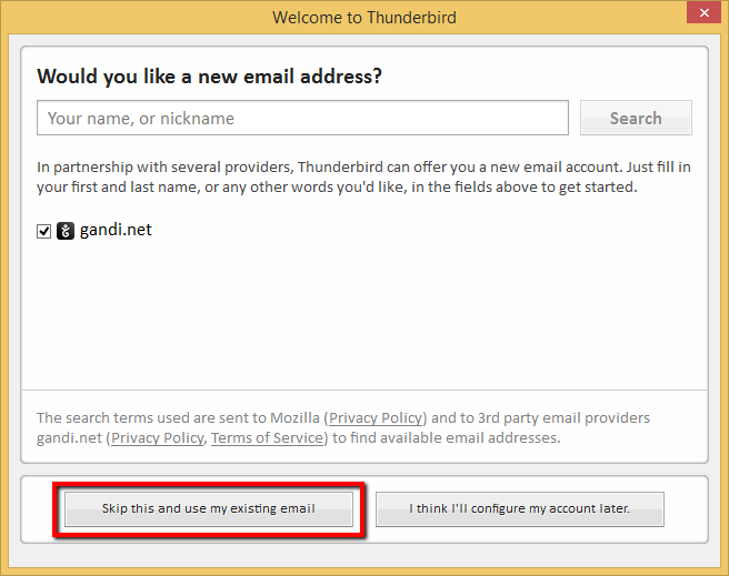 Skip This And Use My Existing Email
