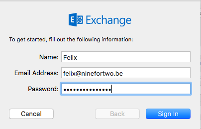 Fill in your name, email address and password