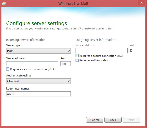 Configure your server settings