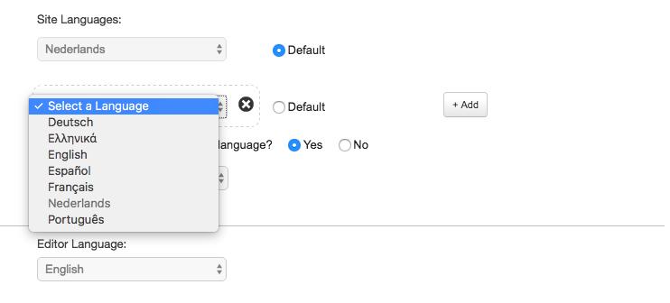 Select a language