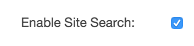 Enable Site Search