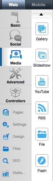 Media widget section