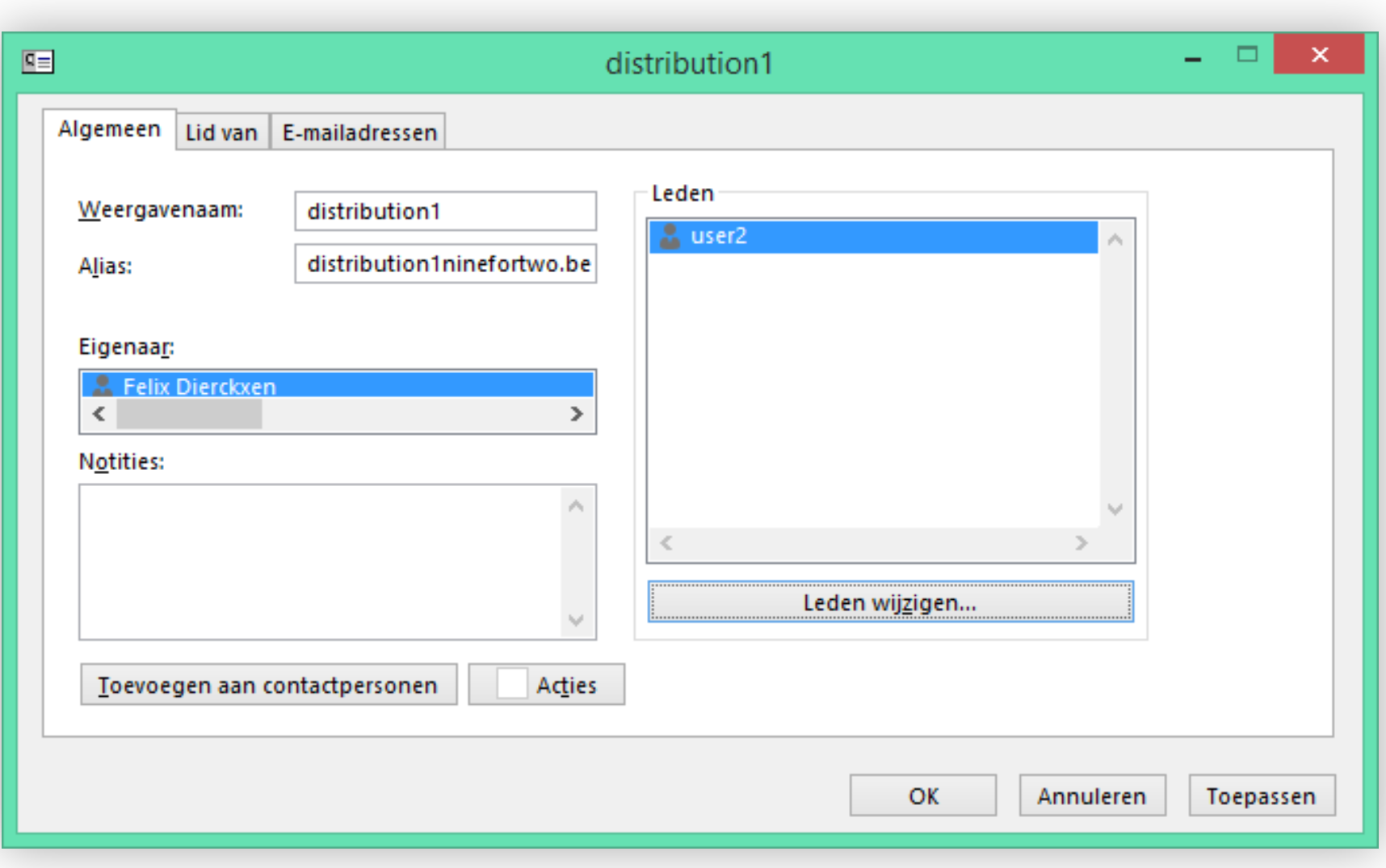 Create a distribution list with multiple e-mail addresses - Combell support
