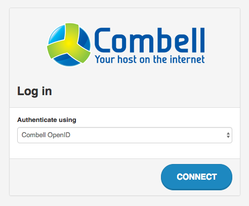 Log in OpenStack control panel