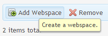 Add webspace