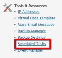Tools & resource > Scheduled tasks