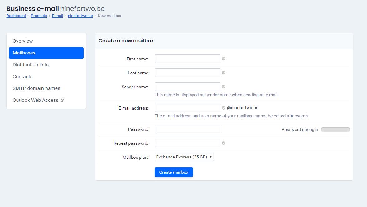 Create a new mailbox