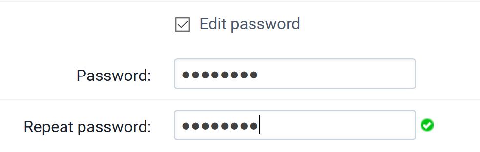 Check the box Edit password