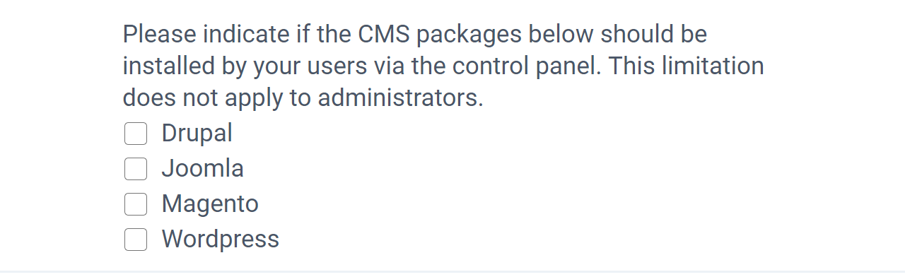 CMS packages