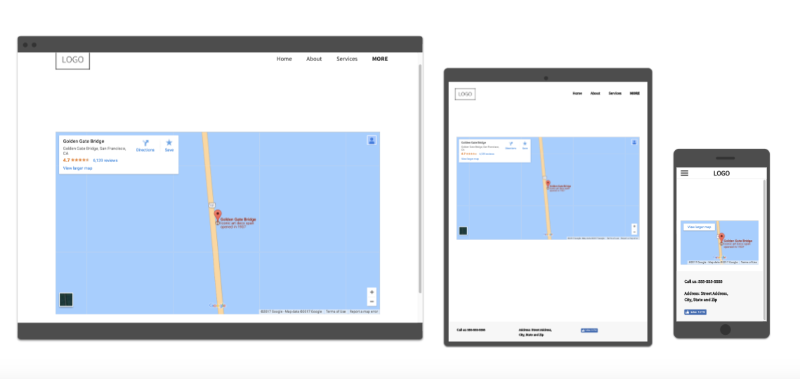 Example map widget