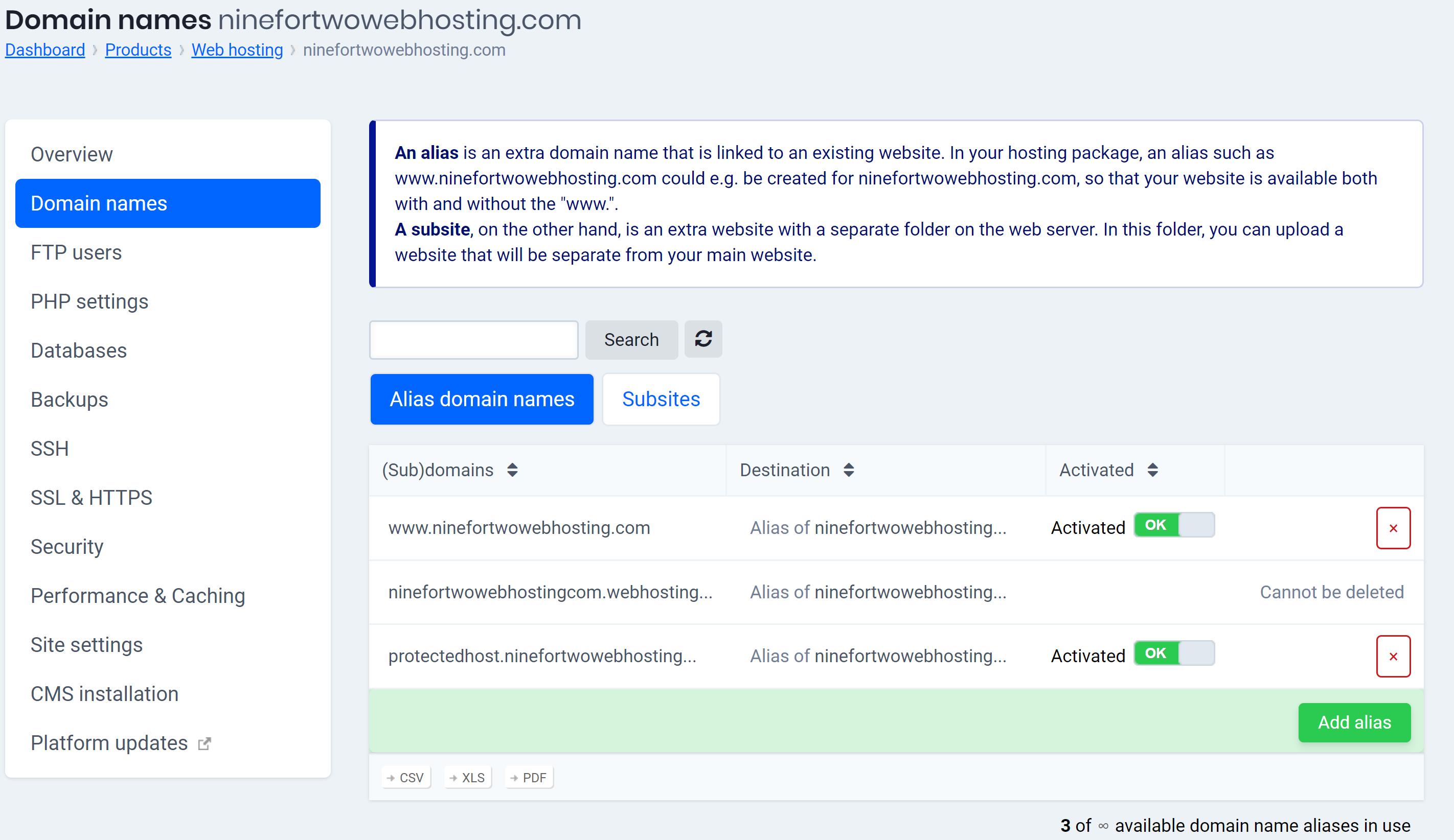 creating hosting packages