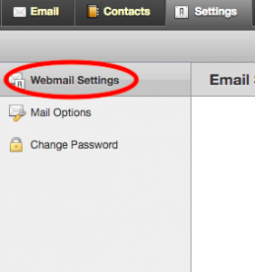 Click on Webmail settings