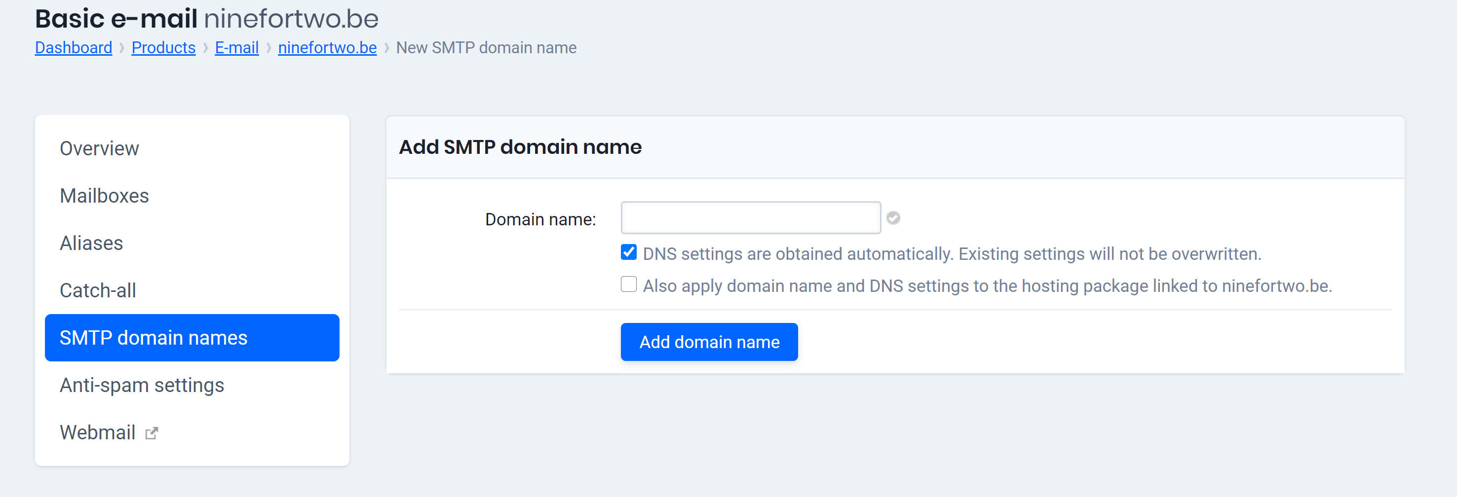 smtp domain names