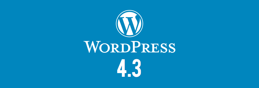 WordPress 4.3 version nouveau
