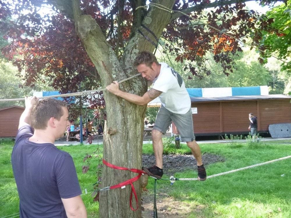 Combell team building parcours de cordes basses