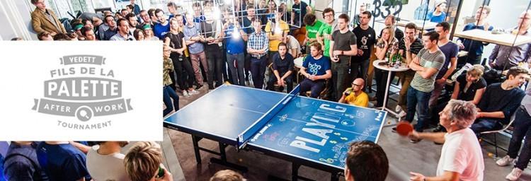 Fils de la palette tournoi de ping-pong