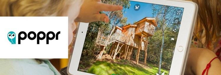 Poppr 360° visites virtuelles hébergées chez Combell