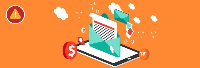 Attention pour des nouveaux messages spam indésirables
