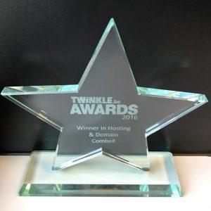 Combell twinkle award hosting domain