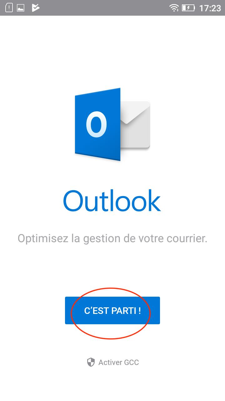 L'appli Outlook