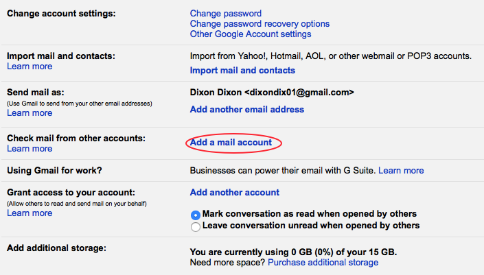 Add a mail account