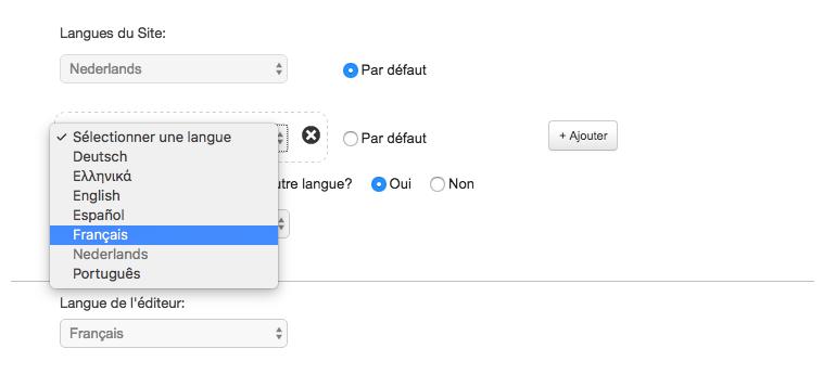 Sélectionner une langue
