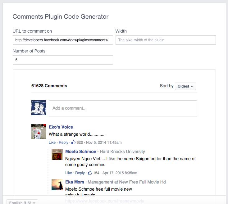 Comments Plugin Code Generator