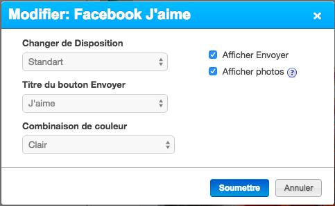 Modifier Facebook J'aime