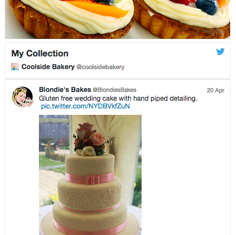 Example widget Collection de Twitter