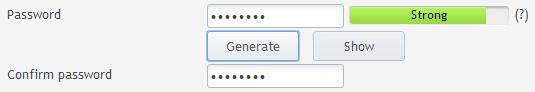 Introduisez le nouveau mot de passe
