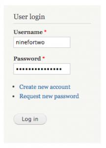 Connectez-vous au panneau d'administration de Drupal