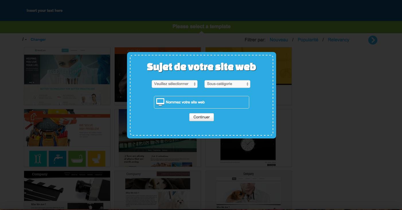 Sujet de votre site web