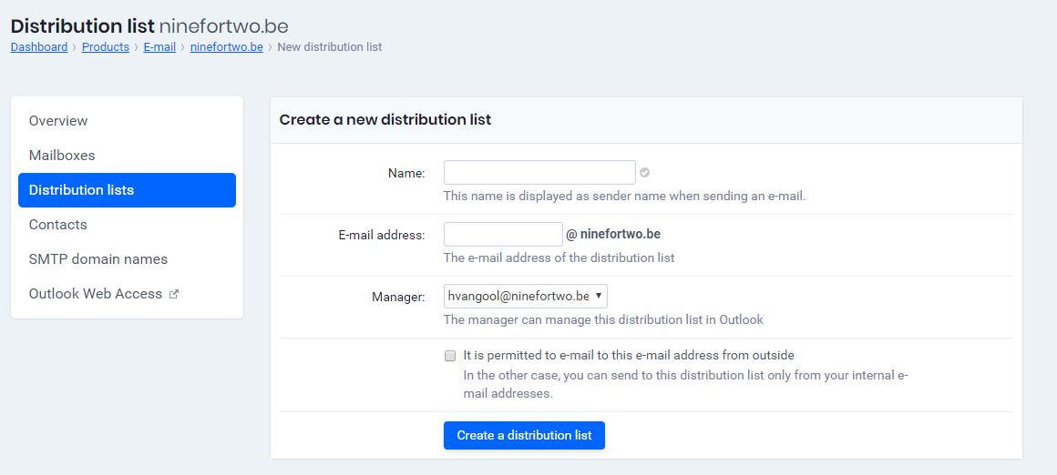 Créer de listes de distribution