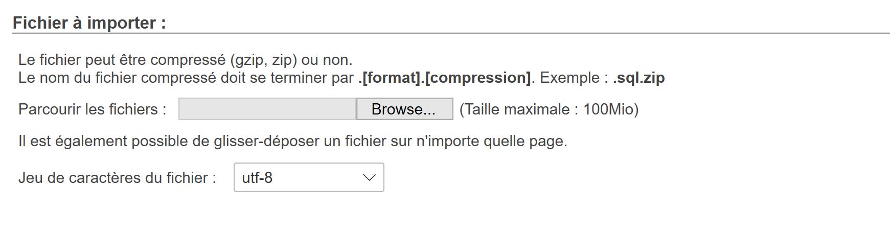 Fichier à importer