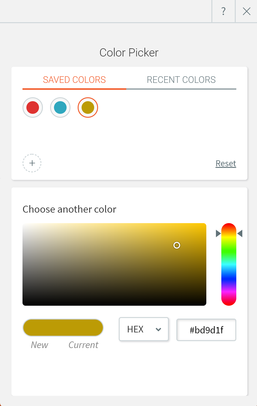 sélecteur de couleurs