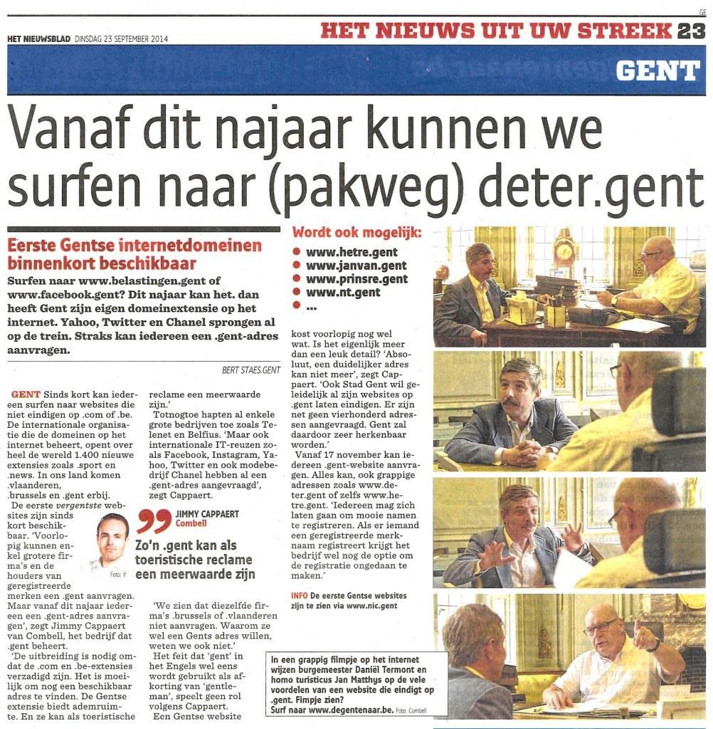 Combell - Nieuwsblad